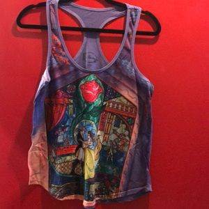 Hot Topic Tops - Beauty and the beast stain glass tank